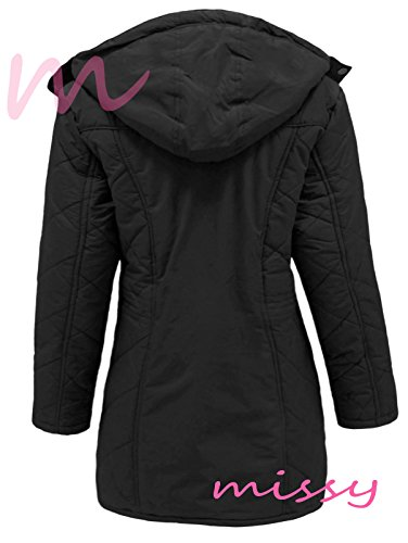 New Womens Ladies Plus Size Quilted Hooded Parka Winter