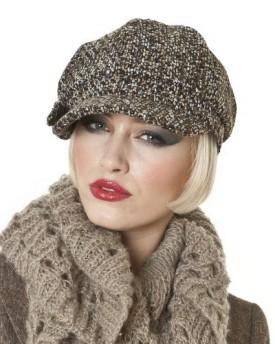 Nellie  Ladies Tweed Fashion Bakerboy Cap (Brown Mix) - Top Fashion Shop b7ae8f04cd