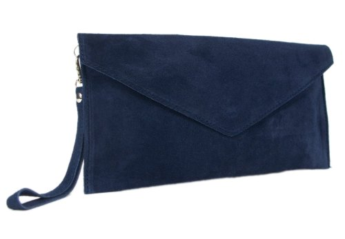 New Girly Handbags Genuine Suede Leather Envelope Clutch