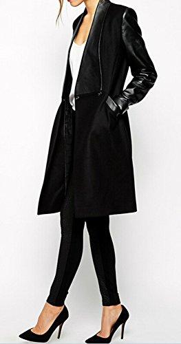 New Womens Winter Warm Long Slim Wool Trench Jacket Coat