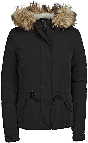 109ea111 Only Lucca Hooded Short Parka Jacket Black - M (UK 12) - Top Fashion ...