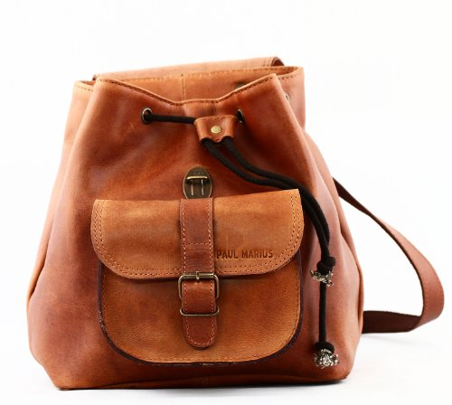 cc97941575 PAUL MARIUS Vintage leather backpack LE BAROUDEUR rucksack vintage ...