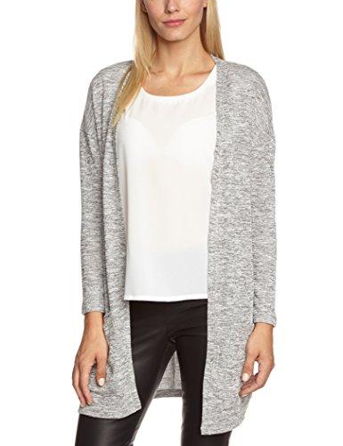 b7b7b2bfdad1 PIECES Women's Long Sleeve Cardigan - Grey - Grey (Light Grey ...