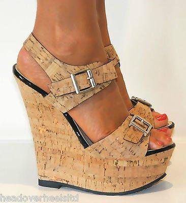 Nude Peep Toe Wedge Ladies Shoes