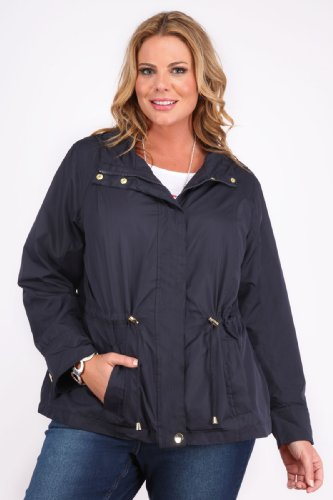 Plus Size Womens Lightweight Parka Jacket With Hood And ...