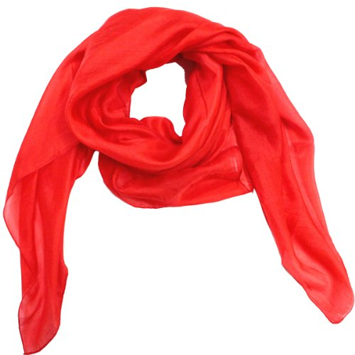 solid color womens neck silk scarf indian clothing