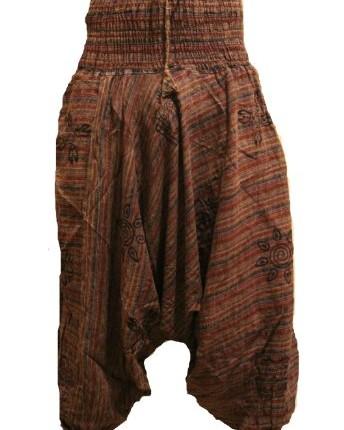 7a5476e22697 Stonewash-Cotton-Stripes-Harem -TrouserLoose-Multicolour-Hippy-PantsHippieBoho-