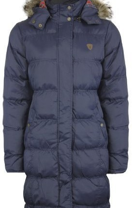The Orange Tags New Ladies Fur Long Hooded Quilted Padded