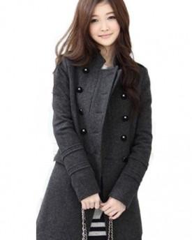 Roman Women's Animal Print Faux Fur Coat Grey Size XXL - Top