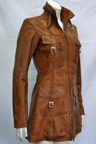 trendy leather lasvages tan ladies womens vintage soft