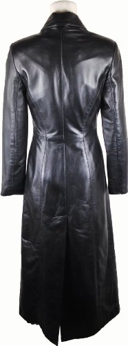 Unicorn Womens Full Length Trench Coat Real Leather Jacket