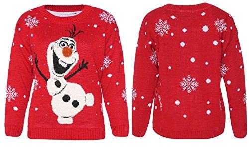 c1c9f0152e04e Unisex Ladies Womens Men Xmas Novelty Snowflake Olaf Frozen Sweater ...