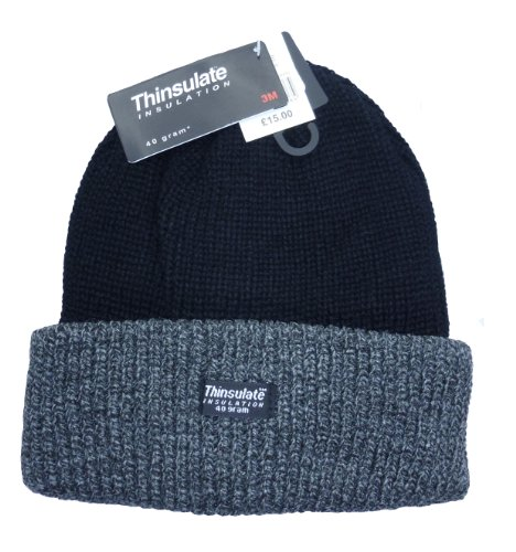 35303239001 Unisex Mens Womens Thinsulate Heavy Knit Winter Ski Thermal Hat (40g ...
