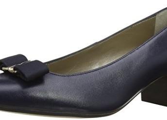 c163fe77 Van Dal Womens Hamilton Court Shoes 2200420 Marine Navy Patent 4.5 ...