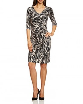 vera mont womens dress multicoloured mehrfarbig blackbeige 9875 14 0. Black Bedroom Furniture Sets. Home Design Ideas