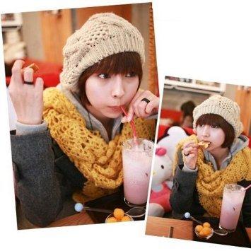 533c8c2683a ... Baggy Beanie Crochet women Hat. WMA-Beige-Winter-Ladys-Warm-Knitted-Knit -Beret-