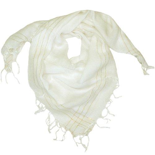 2b5829f8b White Scarf for Women- Lovarzi Square Ladies scarf - Womens scarves ...