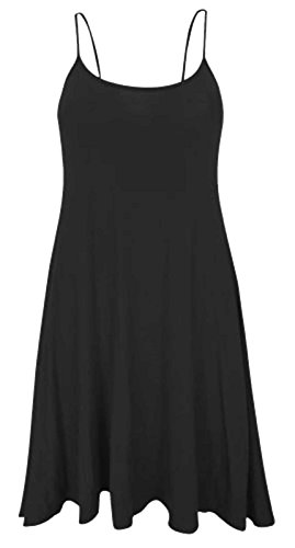 eb040c07e1e8 Women Celebrity Scoop Neck Sleeveless Swing Vest Dress Ladies Top ...