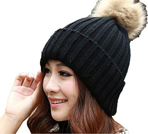 5ed68a5b5028b Women Lady Winter Warm Knitted Crochet Slouch Baggy Beret Beanie Hat ...