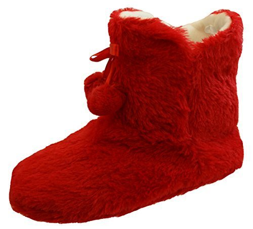 8306bfa78a7 Womens Ladies Slipper Boots Fur Lined Ankle Boot Slippers Sizes 3-8 ...