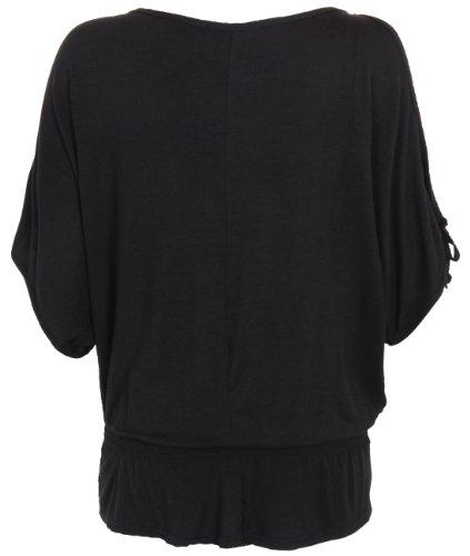 Womens Oversized Batwing Split Off Shoulder Sleeve Baggy