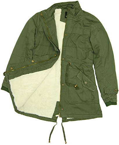 Womens Piccadilly Sherpa Lined Parka Coat Top Fashion Shop