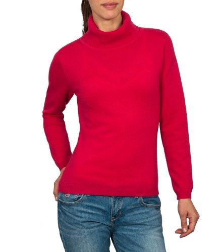 b544ce84dd99 Wool Overs Women s Cashmere   Merino Slinky Polo Neck Jumper Rich ...