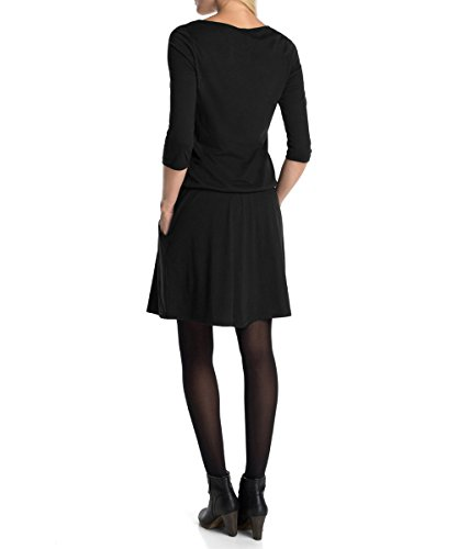 edc by esprit women 39 s 3 4 sleeve dress black schwarz black 001 8 top fashion shop. Black Bedroom Furniture Sets. Home Design Ideas