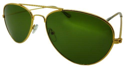 Aviator Sunglasses Solid Metal Premium Gold Frames and ...