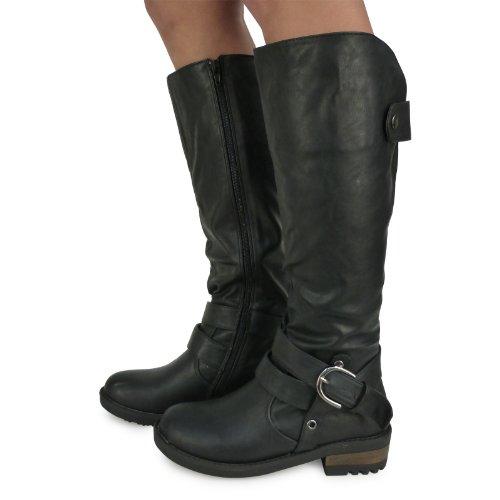B1k New Womens Ladies Fashion Winter Mid Calf Under Knee