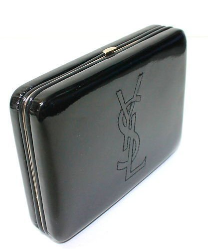 Boxed Yves Saint Laurent Ysl Ladies Glossy Patent Clutch