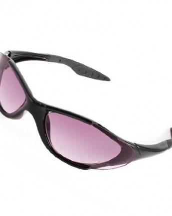 Black Plastic Full Frame Purple Lens Sunglasses Glasses ...