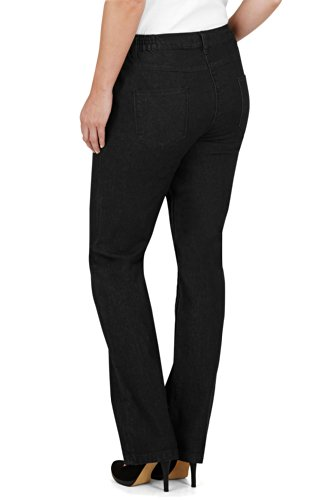 13aa19d0950 Bonmarche Womens Straight Leg Stretch Denim Jeans Black Size 20 ...