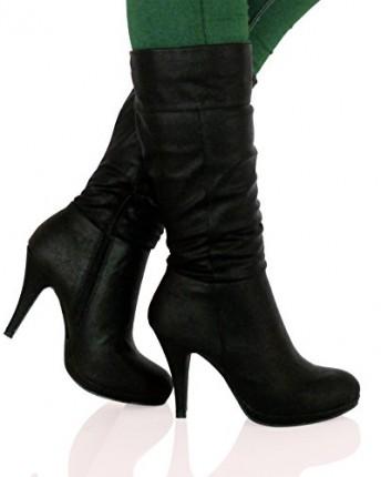 Bypublicdemand B6o Womens Mid High Stiletto Heel Mid Calf
