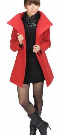 5e3aa4611e54b CHAREX Women s Winter Woolen Coat with Belt Long Slim Outwear Luxury ...