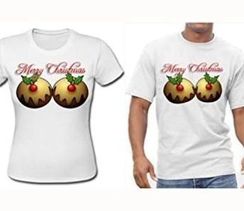 Christmas Pudding Boobs Merry Christmas Jumper T Shirt