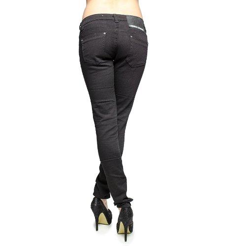 9c3075f1cb Criminal Damage Rose Lace Ripped Skinny Fit Jeans (Black/Pink) - 10 ...