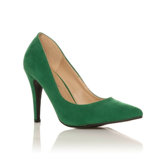 darcy green faux suede stilleto high heel pointed court. Black Bedroom Furniture Sets. Home Design Ideas
