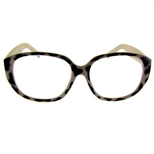 White Designer Eyeglass Frames : Designer Glasses - Geek Style - Unisex, Retro - Clear Lens ...