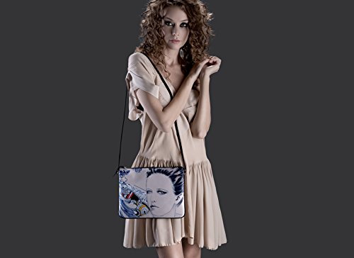 Diorama Concept Satin Pouch Bags All About Eve Graphic
