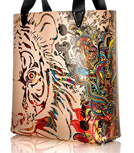 Diorama Concept Waterproof Beach Bag Tiger S Spell Graphic
