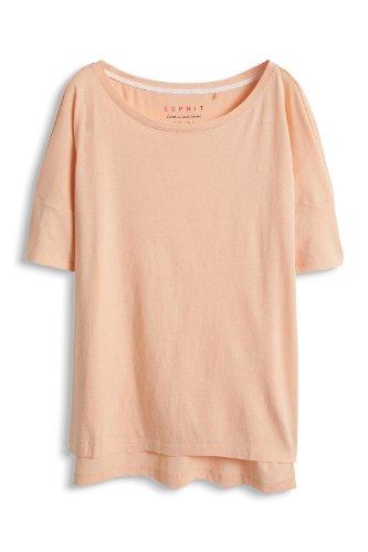 esprit womens boat neck short sleeve tshirt pink