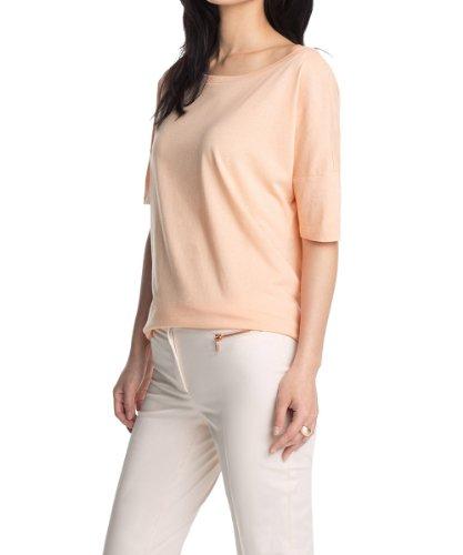 Esprit women 39 s boat neck short sleeve t shirt pink for Boat neck t shirt women s