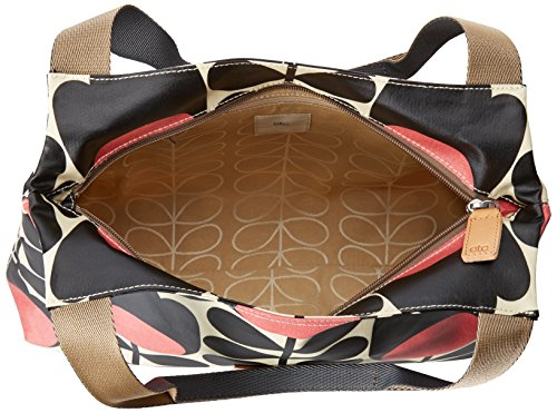 03cf124e873 ETC by Orla Kiely Women s Tulip Stem Print Shoulder Bag, Jet Black ...