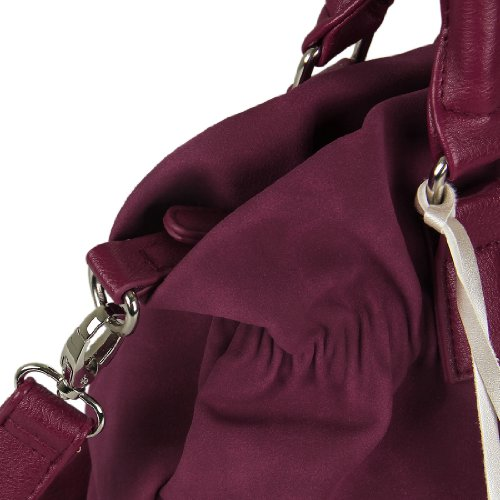 Deluxe Leather Suede Gloves: Ecosusi Women Soft Leather Suede Tote Handbag Hobo Satchel