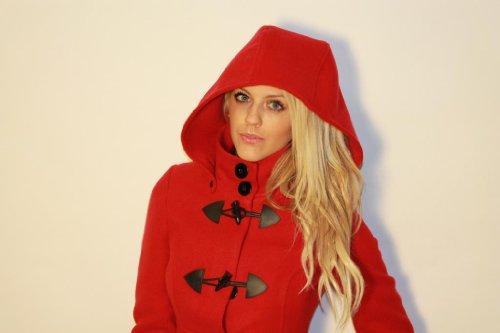 Expose-Women's Duffle Coat-Red - Top Fashion Shop