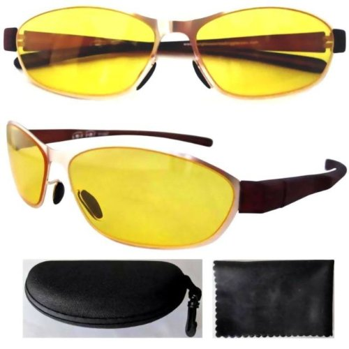 Eyekepper Stainless Steel Frame Rim Plastic Arms Yellow ...