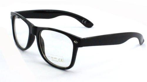 28acd4c29b FashionLDN® Vintage Retro Style Oversized Black Frame Nerd Geek ...