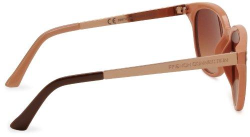 French Connection FCU596 Wayfarer Women s Sunglasses Brown Gold One ... 5db97c9d2a