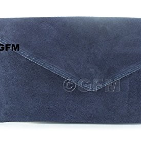 royal blue suede clutch bags